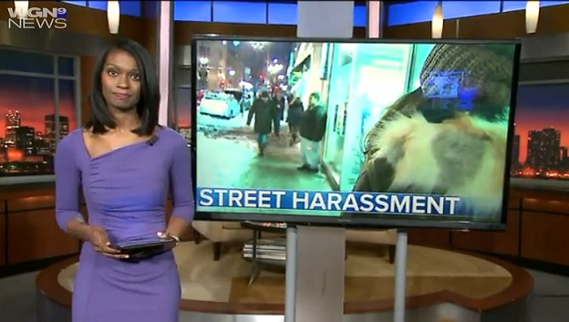 WGN'S Gaynor Hall covering Street Harassment