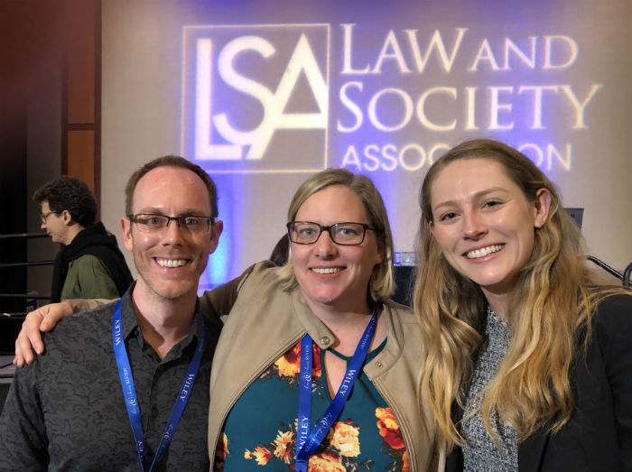 Laura Beth Nielsen, Stefan Vogler, and Katie Mansur at LSA 2019