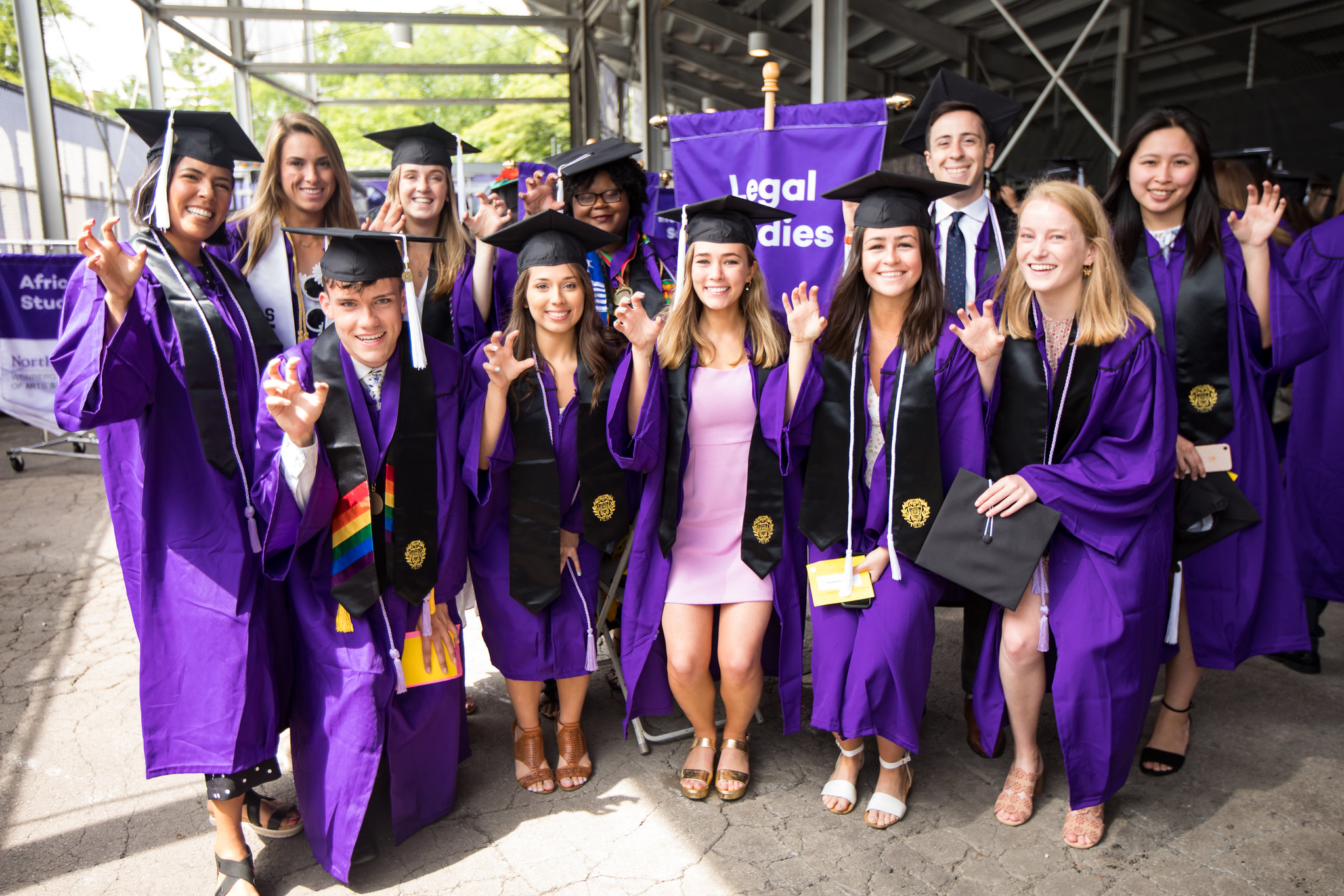 Legal Studies Majors at the 2019 Weinberg Convocation